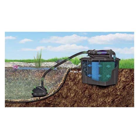filtre bassin de jardin filtration compl 232 te avec uv pour bassin de jardin 2000 224 5000 litres aqua occaz