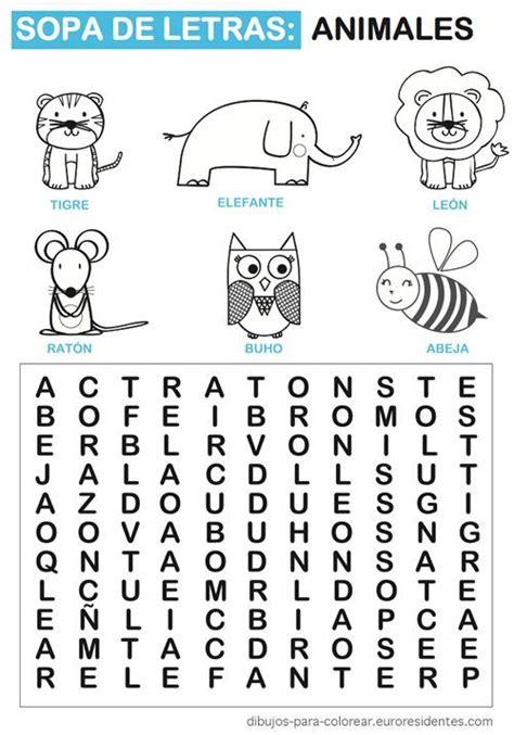 sopa de letras para primaria paraprimariacom sopa de letras de animales sopas de letras para ni 241 os