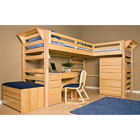 bunk bed desk on pinterest loft bed plans desk plans graduate series triple lindy twin xl loft bed loft beds