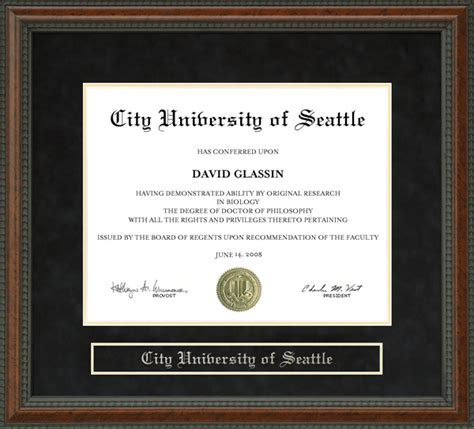 Seattle Mba Requirements by City Of Seattle Cityu Diploma Frame Wordyisms