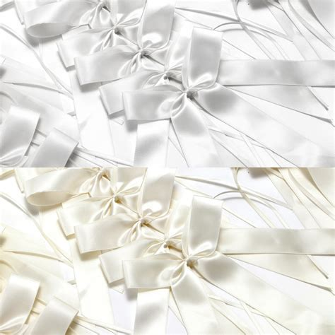 25 Pull Bows Ribbon Decorations Wedding Pew Gift Party   eBay