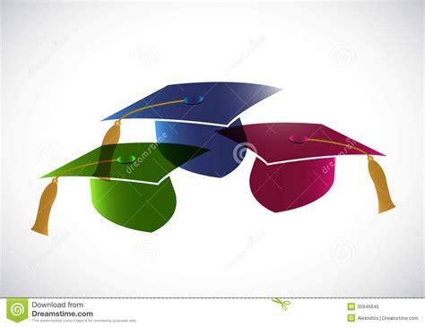 background design graduation set of graduation hats tassel illustration stock