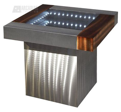 Contemporary End Tables Lighting Ifet2222b Square Infinity Contemporary End Table Nv Ifet2222b