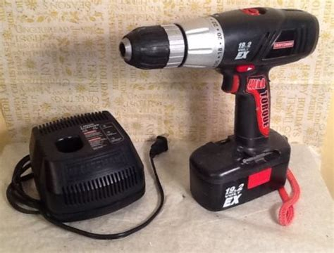 craftsman battery charger 19 2 craftsman 19 2 volt ex diehard drill with battery pack and