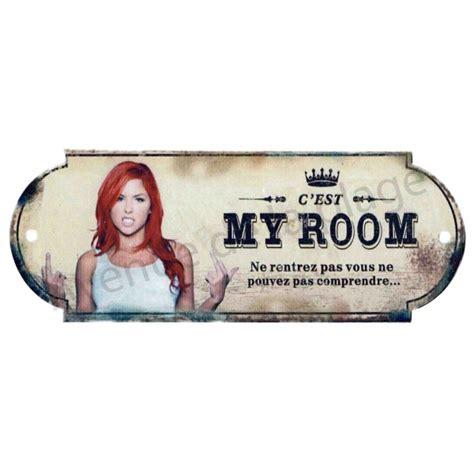 plaque porte chambre plaque de porte chambre my room plaque humoristique