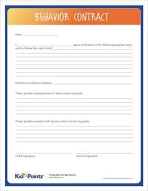 parent child behavior contract template 1000 images about contracts for on