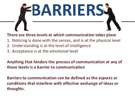 comfort level definition barriers to communication