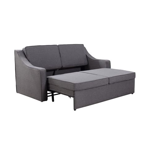 Linen Sleeper Sofa by Homcom Linen Lounge Sleeper Sofa Gray Signature