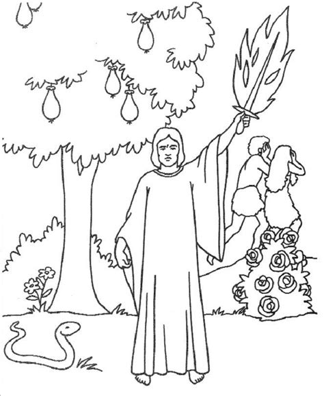 preschool coloring page adam and eve adam and eve color pages az coloring pages