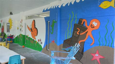 Decoration Of Montessori Classes by Chico S Employees Create Playground Mural For Ccmi