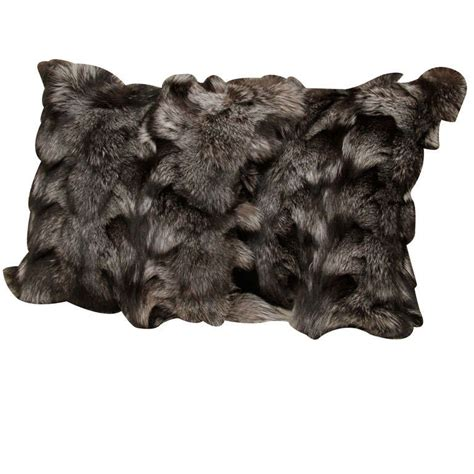 pillows silver fox fur for sale at 1stdibs
