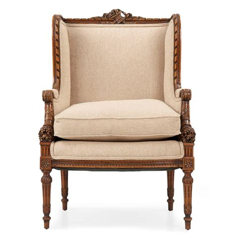 vintage wingback armchair french carved mahogany antique wingback armchair 19th century at 1stdibs
