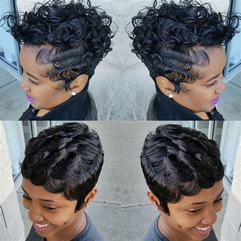 black hairstyles with finger wave sides and curls on top 322 best images about cute styles fingerwaves soft