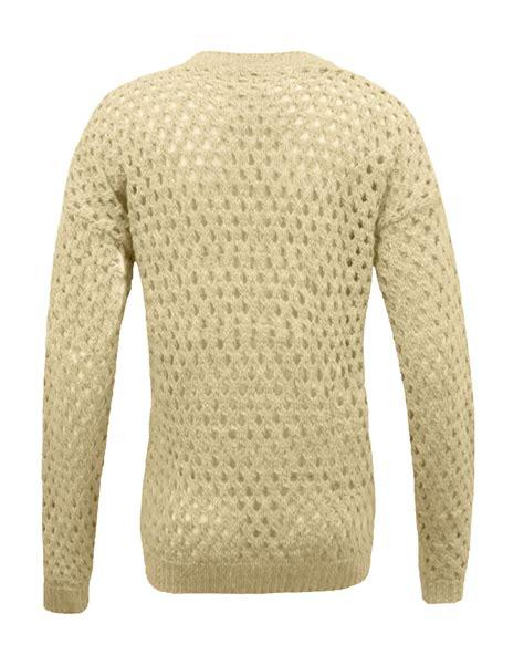knitting pattern holey jumper ladies womens soft holey knitted crochet plain jumper