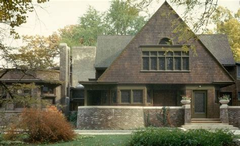wright home and studio exterior by frank