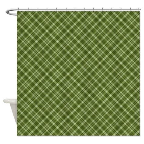 dark green shower curtain dark green plaid shower curtain by laurie77
