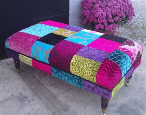 Patchwork Footstool - patchwork footstool