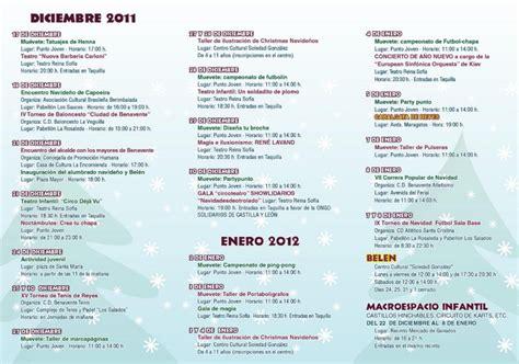 programa de navidad agenda benavente diciembre 2011