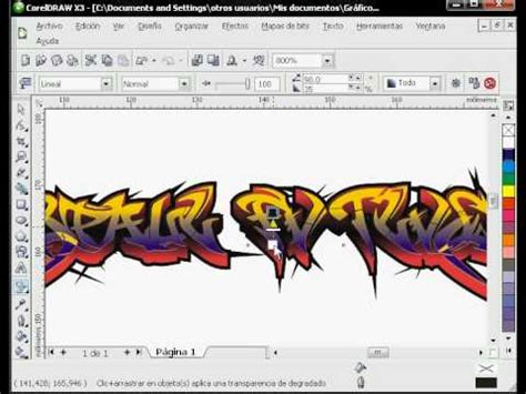 tutorial hand lettering corel draw graffiti en corel draw x3 parte 1 tutorial bueno youtube