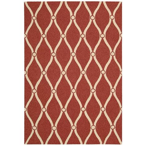 home depot accent rugs nourison portico red 2 ft x 3 ft indoor outdoor accent