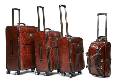 Backpack Set 4in One Brown Chips luggage sets 4 pu leather vintage trolley luggage bag set duffle bag available in
