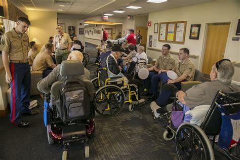 file marines visit nininger veterans nursing home 150507