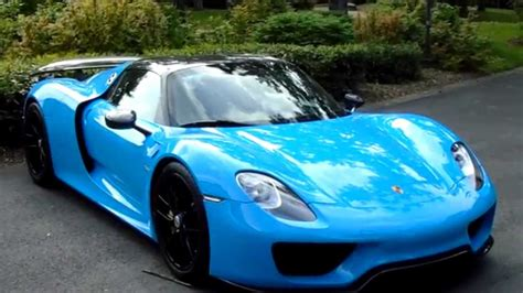 blue porsche spyder blue riviera porsche 918 spyder in reims 2015 youtube