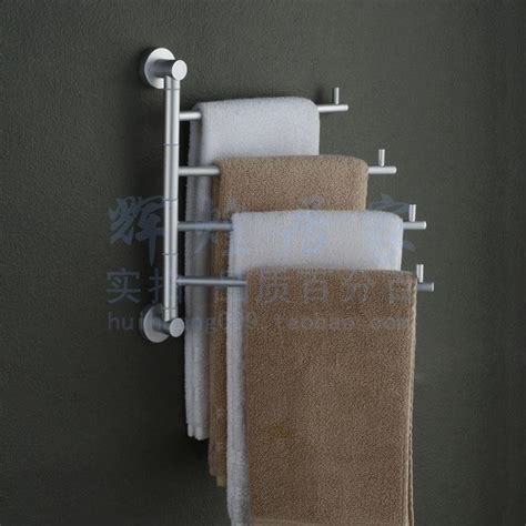 Wall Towel Holders Bathrooms by Bathroom Towel Racks Folding Movable Bath Towel Bar Wall