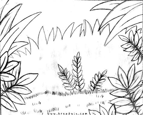 jungle background coloring pages monkeys need leaves breadwig