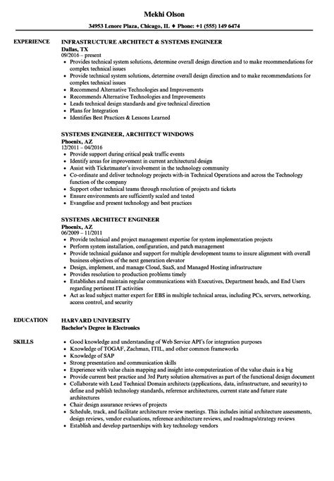 awesome system architect resume gallery exle resume
