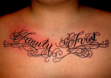 family first chest tattoo 35 encouraging family tattoos creativefan