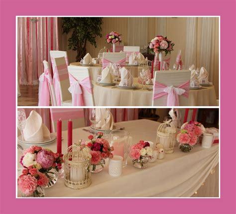 Tischdeko Hochzeit Rosa by Tischdeko Tips