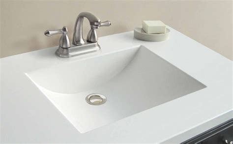 Vanity Tops And Bowls by Woodnote 37 Inch W X 22 Inch D White Cultured Marble