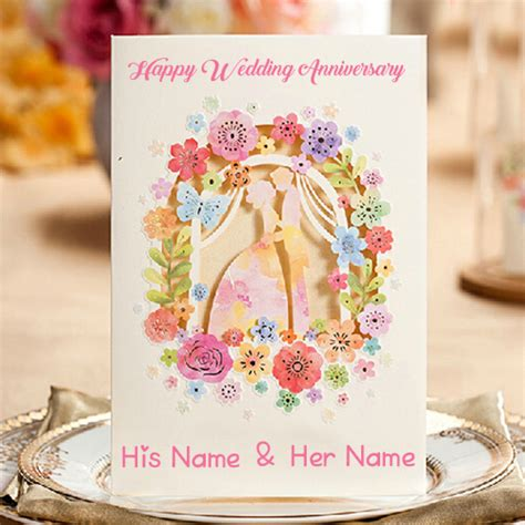 Wedding Anniversary Card With Name by Wedding Anniversary Wish Card Name Image