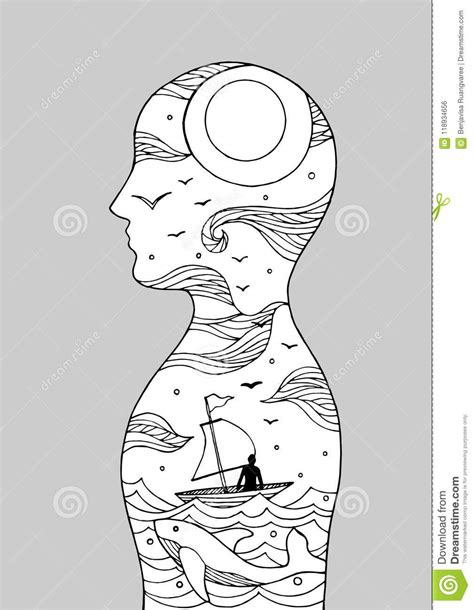 Human Head Spirit Power Energy Connect To The Universe