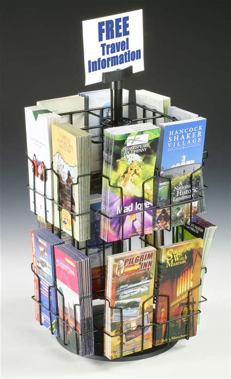 Brochure Racks Countertop by Spinning Countertop Display Wire Rack With Brochure Pockets