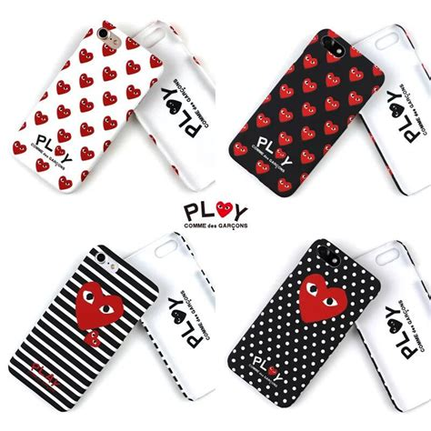 Iphone Cdg With Box fashion trend cdg play comme des garcons fluorescence pc phone cover for iphone 7