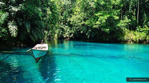 Cermin Jakarta labuan cermin two layers lake in indonesia peek holidays