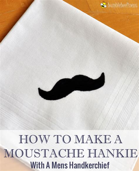 How To Make A Mustache Out Of Paper - how to make a moustache mens handkerchief