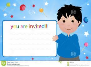 invitation card boy stock photography image