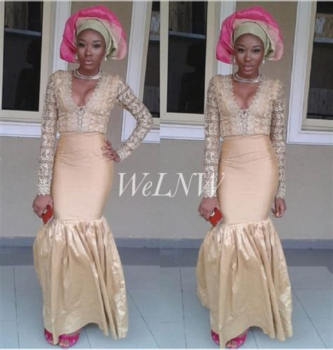 latest iro and blouse made with cord lace asoebi iro and buba blackhairstylecuts com