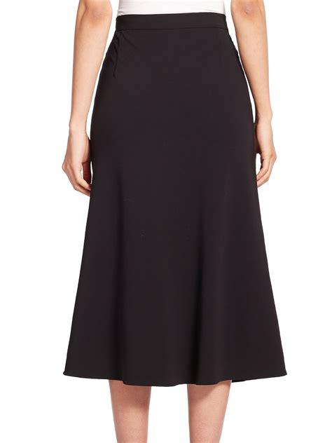 lyst max mara harald stretch wool skirt  black