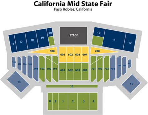mid state fair concert seating california mid state fair seating chart california mid