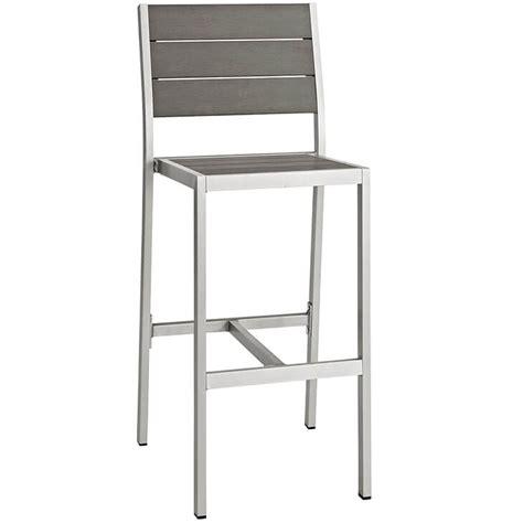 modern aluminum outdoor furniture modern outdoor aluminum wood barstool modern furniture