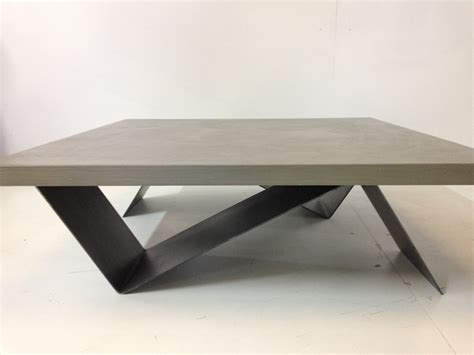 Merveilleux Table Chaise Jardin Pas Cher #2: TABLE-BASSE-BETON-CIRE-ZIG-ZAG-ACIER-BROSSE-3-2.JPG