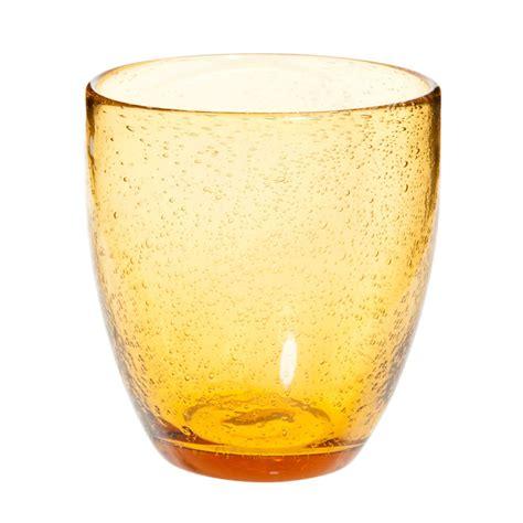 bicchieri maison du monde bicchiere in vetro a bolle ambre maisons du monde