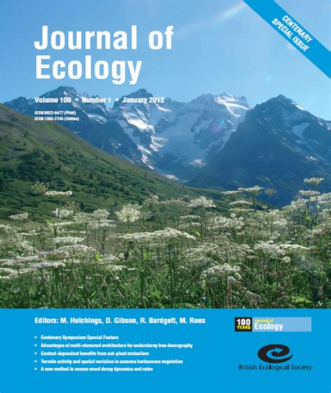design ecologies journal journal of ecology