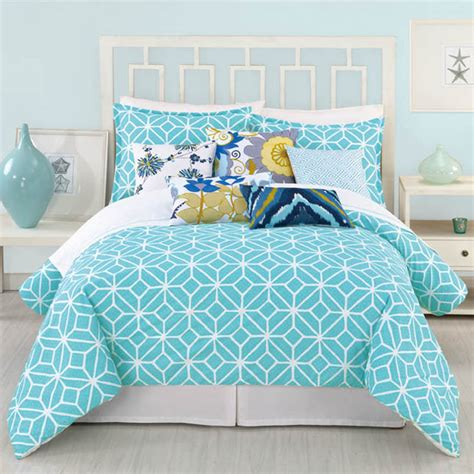 comforter turquoise district17 trina turk trellis comforter 3 piece set in