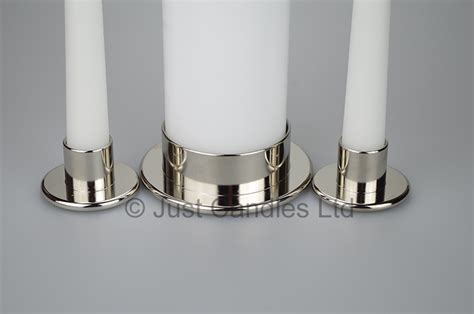 Candle Holders Uk Beautiful Solid Metal Unity Candle Holders Justcandles Co Uk