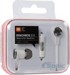 Headset Earphone Jbl E10 jbl synchros e10 in ear headphones white single button mic remote
